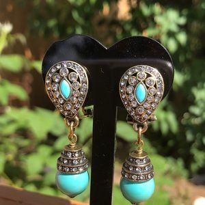 Vintage Heidi Daus drop dangle earrings